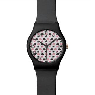 Caniche francés rosado femenino relojes