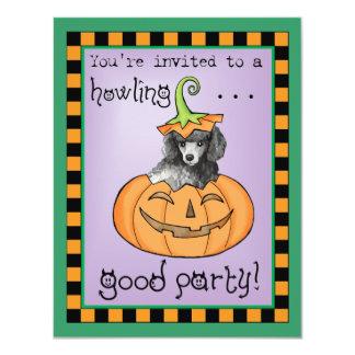 """Caniche miniatura de Halloween Invitación 4.25"""" X 5.5"""""""