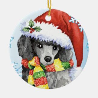 Caniche miniatura feliz de Howliday Ornamento De Reyes Magos