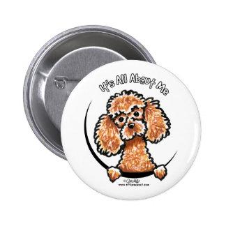 Caniche miniatura IAAM del juguete del albaricoque Pin Redondo 5 Cm