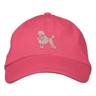 Caniche pequeño rosado gorra de beisbol