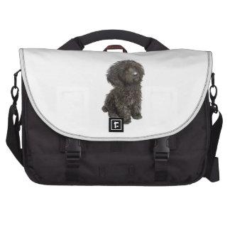 Caniche - perrito negro del juguete bolsa para ordenador