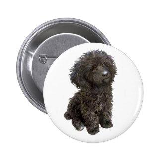 Caniche - perrito negro del juguete pins