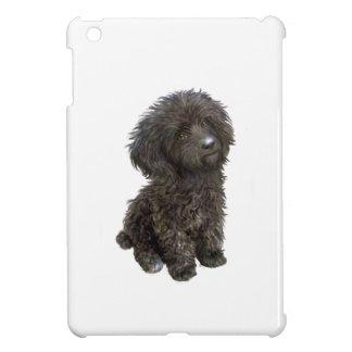 Caniche - perrito negro del juguete iPad mini funda