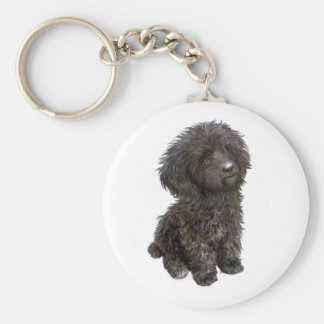 Caniche - perrito negro del juguete llavero