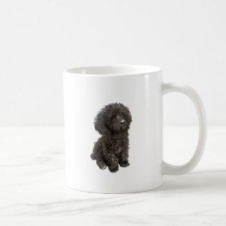 Caniche - perrito negro del juguete tazas