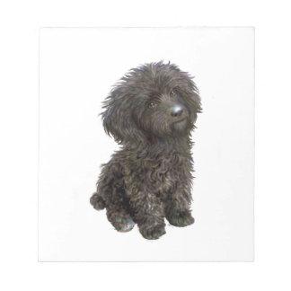 Caniche - perrito negro del juguete blocs de notas