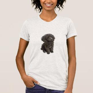 Caniche - perrito negro del juguete camisetas