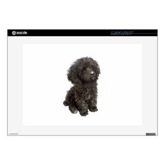 Caniche - perrito negro del juguete 38,1cm portátil calcomanías