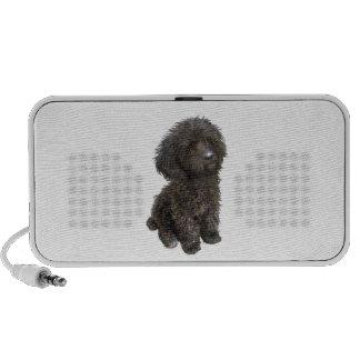 Caniche - perrito negro del juguete PC altavoces