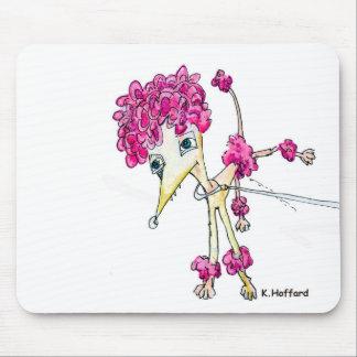Caniche rosado alfombrillas de raton