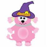 caniche rosado de los goofkins witchy escultura fotográfica