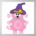 caniche rosado de los goofkins witchy poster