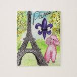 Caniche rosado en París Puzzles
