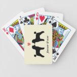 Caniches de juguete negros con el corazón y el tex cartas de juego