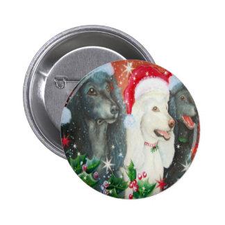 Caniches del navidad pin