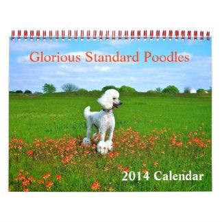 Caniches estándar gloriosos calendario
