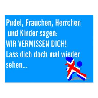 Caniches patrióticos postales