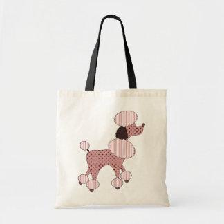 Caniches rosados en bolso del desfile bolsa tela barata