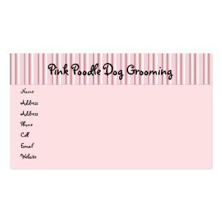 Caniches rosados en tarjeta del perfil del desfile plantilla de tarjeta de negocio