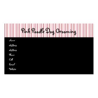 Caniches rosados en tarjeta del perfil del desfile tarjetas de visita