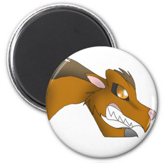 Canid Dragon Button Magnet
