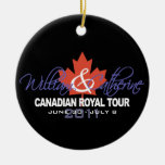 Canidian Royal Tour - William & Kate 2011 Christmas Ornament