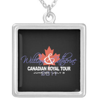 Canidian Royal Tour - William & Kate 2011 Silver Plated Necklace