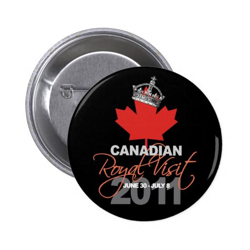 Canidian Royal Visit - William & Kate Wedding Buttons