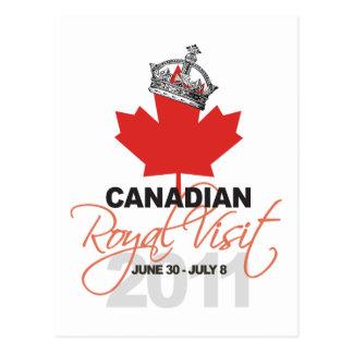 Canidian Royal Visit - William & Kate Wedding Postcard