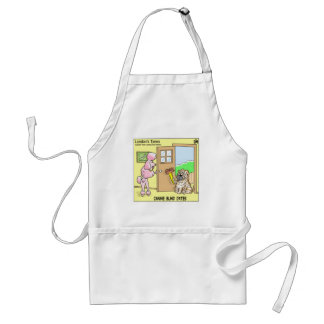 Canine Blind Dates Funny Dog Cartoon Gifts & Tees Adult Apron