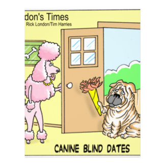 Canine Blind Dates Funny Dog Cartoon Gifts & Tees Flyer