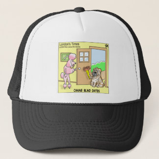 Canine Blind Dates Funny Dog Cartoon Gifts & Tees Trucker Hat