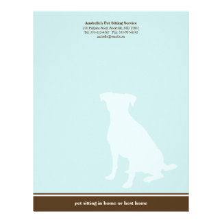 Canine blue brown posh pet sitting service custom letterhead