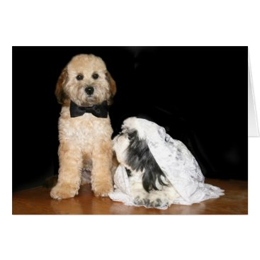 deemac1 Canine bride and groom card