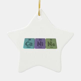 Canine-Ca-Ni-Ne-Calcium-Nickel-Neon.png Ceramic Ornament