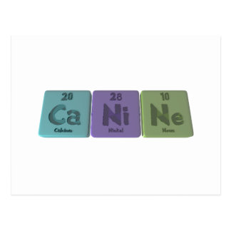 Canine-Ca-Ni-Ne-Calcium-Nickel-Neon.png Postcard