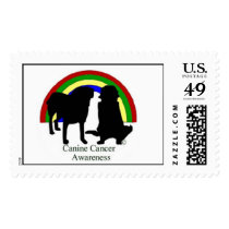Canine Cancer Awareness Postage Stamps
