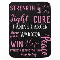 Canine Cancer Dog blanket