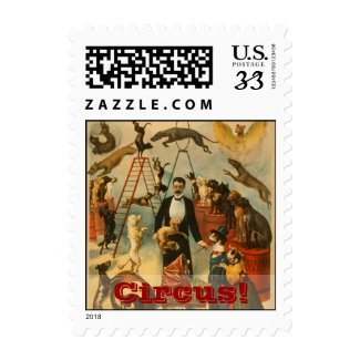 Canine Circus! - Postage stamp