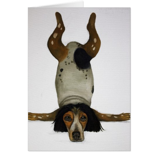 Canine Contortionist Card