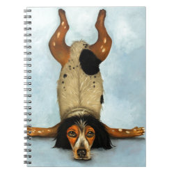 Canine Contortionist Spiral Note Book