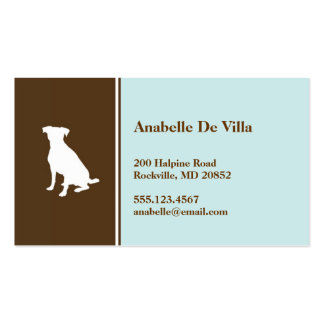 Canine dog blue brown pet personal calling card