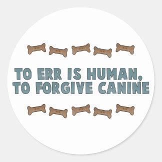 Canine Forgiveness Round Sticker