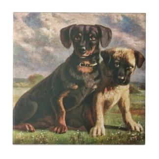 Canine Friends Tile