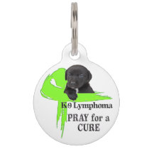 Canine Lymphoma - Cancer Bites Pet Name Tag