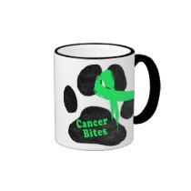 Canine Lymphoma - Cancer Bites Ringer Mug