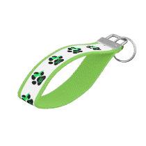 Canine Lymphoma Cancer_Hodgkins Lymphoma Wrist Keychain