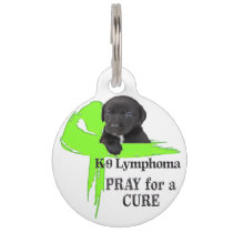 Canine Lymphoma - Pray for a Cure Pet Name Tag