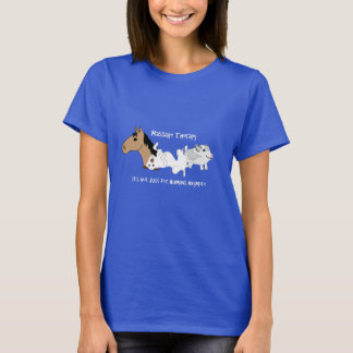 Canine Massage Therapy T-Shirt - White Font